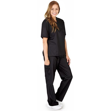 Natural Workwear Uniform - Unisex - Premium Medical Nurse Scrubs Set - XXS - 3XL Black / XX-Large](Nurse Scrubs For Halloween)