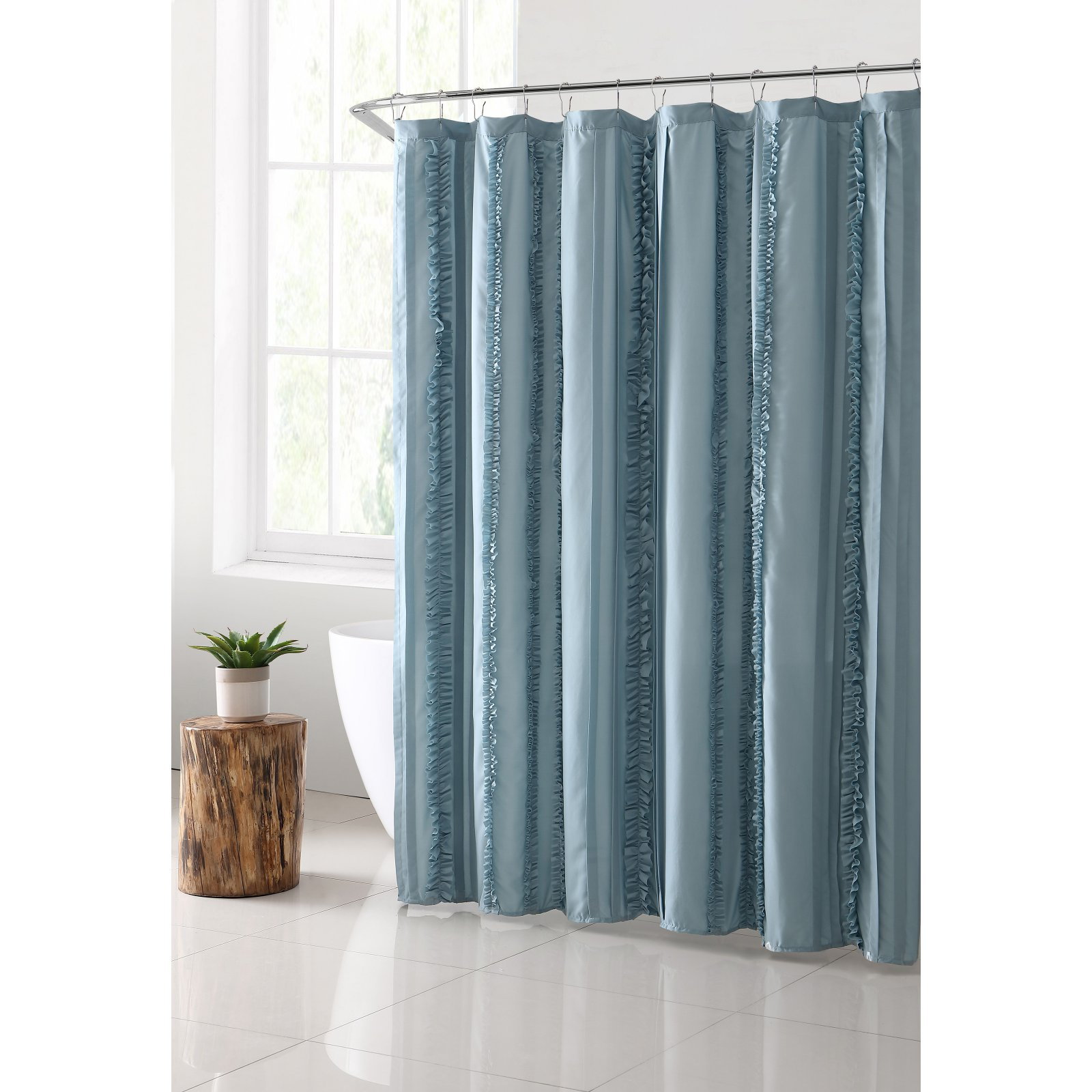 "VCNY Home Hope Solid Technique Ruffle 72"" x 72"" Shower Curtain"
