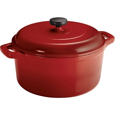 Tramontina Enameled Cast Iron 6.5 Quart Round Dutch (Dutch Oven Cooking Equipment)
