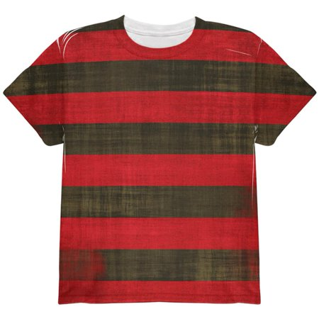 Halloween Striped and Bloody Nightmare Sweater All Over Youth T - Nightmare Halloween Forest Lake