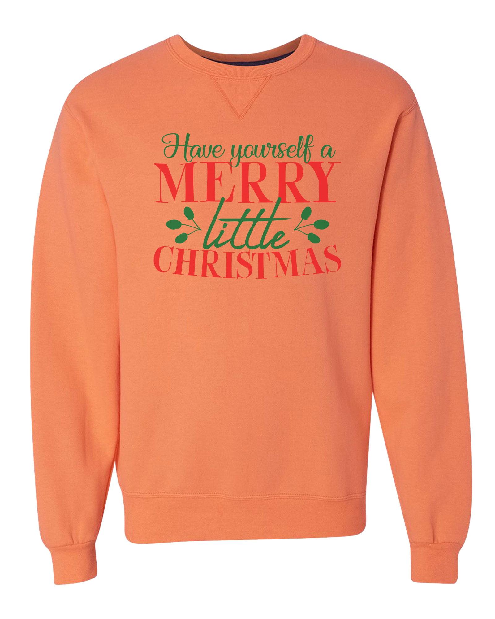 "Unisex Soft Sweatshirt ""Have Yourself A Merry Little Christmas"" Christmas Gift XX-Large, Gray"