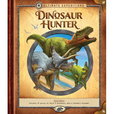 Ultimate Expeditions: Dinosaur Hunter : Includes 70 pieces to build 8 dinosaurs, and a removable diorama!