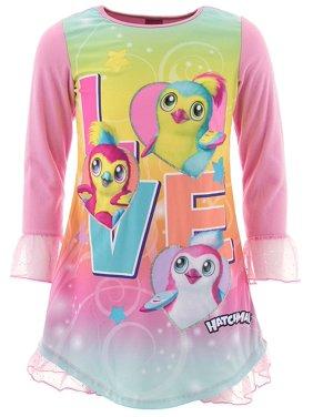 Hatchimals Girls Love Pink Nightgown