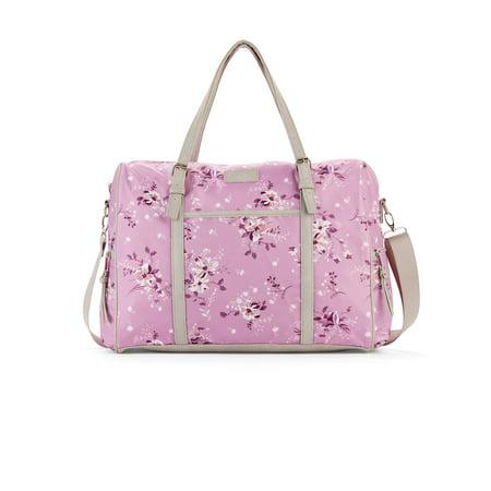 No Boundaries Lavender Floral Weekender Bag