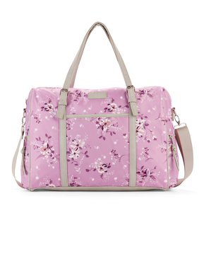 52cd3a558f35 Product Image No Boundaries Lavender Floral Weekender Bag