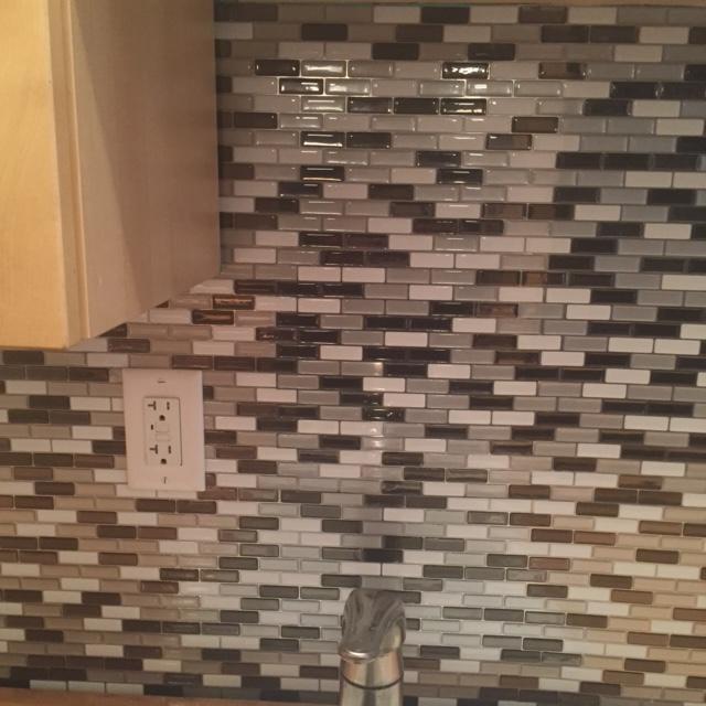 Stick Kitchen Backsplash Wall Tile