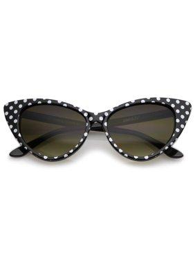 3c8817f985 Product Image Women s Retro Polka Dot Oversize Cat Eye Sunglasses 50mm  (Black-White   Smoke Gradient