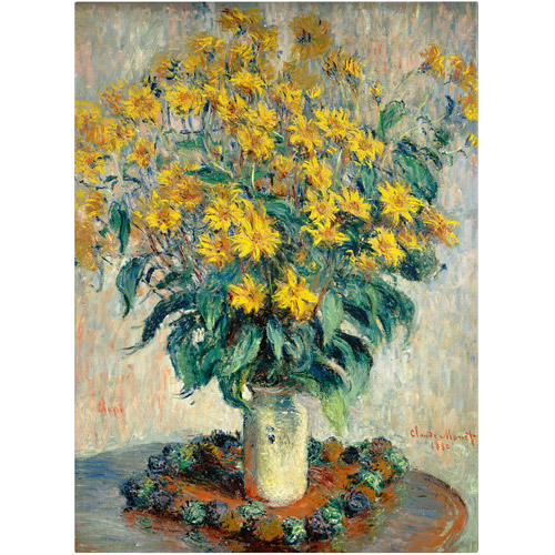 "Trademark Fine Art ""Jerusalem Artichoke Flowers"" Canvas Art by Claude Monet"
