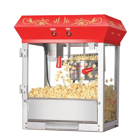 6106 Great Northern Popcorn Red Foundation Top Popcorn Popper Machine, 6 Ounce - Popcorn Buffet