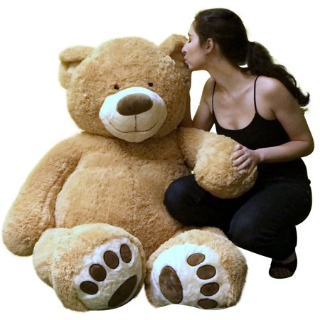 Big Plush Giant 5 Foot Teddy Bear Soft Ultra Premium Quality Hand Stuffed in USA, Ships in Big Box Weighs 17 Pounds