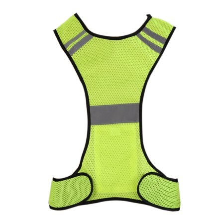 Men Women Safety Vests Reflective Slim Breathable Outdoor Sports Top Night Running Riding LED Light Reflective Men Vest](Led Vests)