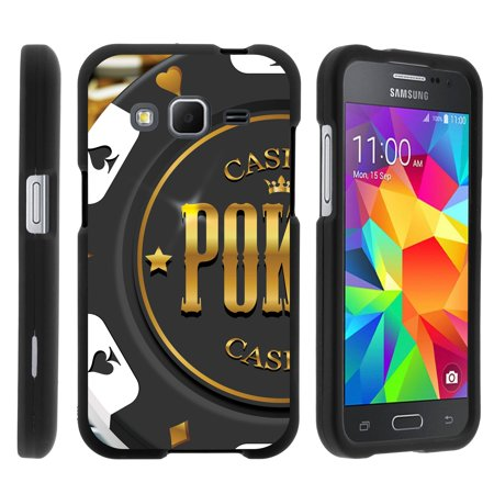 TurtleArmor ® | For Samsung Galaxy Core Prime G360 | Prevail LTE | Win 2 [Slim Duo] Two Piece Hard Cover Slim Snap On Case - Casino Poker Chip