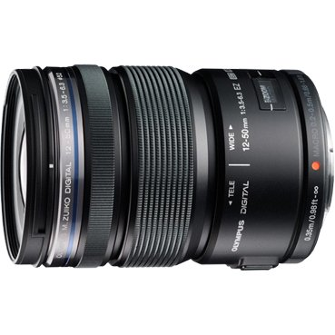 Olympus V314040BU000 Olympus M.Zuiko 12 mm - 50 mm f/3.5 - 6.3 Zoom Lens for Micro Four Thirds - 52 mm Attachment - 0.72x Magnification - 4.2x Optical (Best Telephoto Lens For Micro Four Thirds)