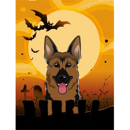 Carolines Treasures BB1769CHF Halloween German Shepherd Flag Canvas House Size - image 1 de 1
