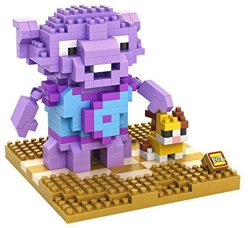 Little Treasures Loz diamond blocks purple oh-boov alien character I-block fun compatible... by