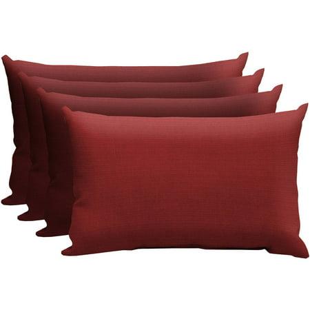 Better Homes and Gardens Outdoor Patio Lumbar Pillow, Set of Four, Multiple  Patterns - Better Homes And Gardens Outdoor Patio Lumbar Pillow, Set Of Four