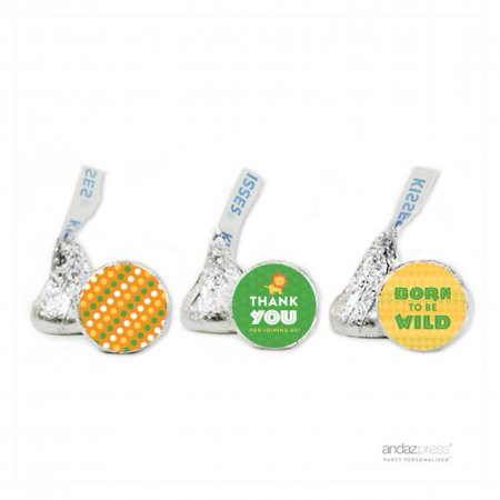 Thank You  Jungle Safari Baby Shower Hershey´s Kisses Favor Labels, - Jungle Safari Golf
