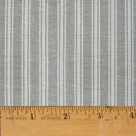 Magnolia Gray Stripe Plaid Homespun Cotton Fabric Sold by the Yard - JCS Fabric ()