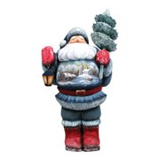 GDeBrekht 2821473 Carved Wood And Hand-Painted Santa Old World Forest Keeper Santa, 11 in.