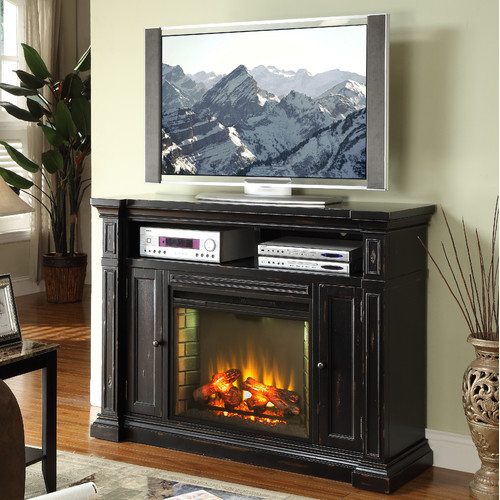 Legends Furniture Manchester 58'' TV Stand with Fireplace