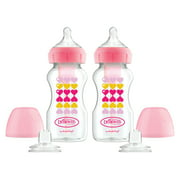 Dr. Brown's Wide-Neck Bottle to Sippy -2PK Pink