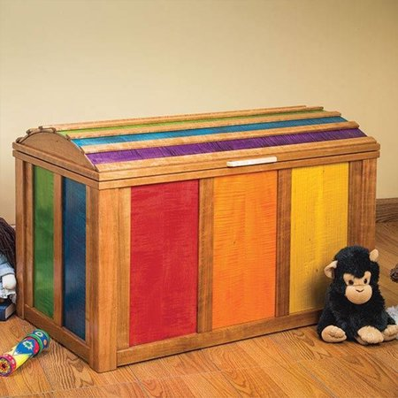 Woodworking Paper Plan for Treasure Chest Toy Chest (Treasure Chest Gift Box)