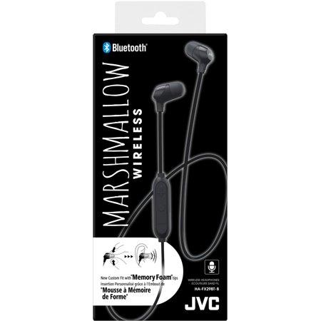 """3b3d1f4583f JVC HA-FX29BT New colourful """"Marshmallow wireless""""headphones (Black) -  image ..."""