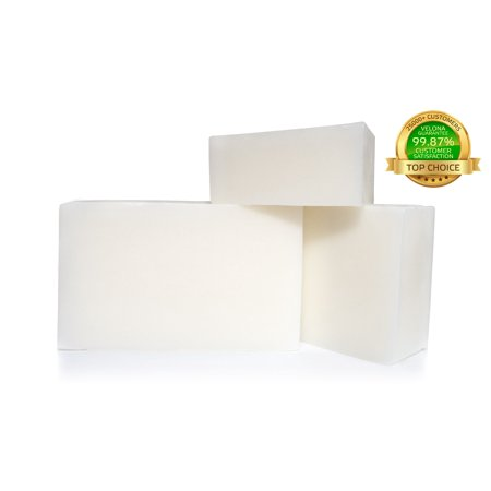 100% Organic Goat's Milk & Glycerin Soap Base by Velona | Melt & Pour All Natural Bar for The Best Result | Size: 5 (Best Way To Get Rid Of Soap Scum On Tile)