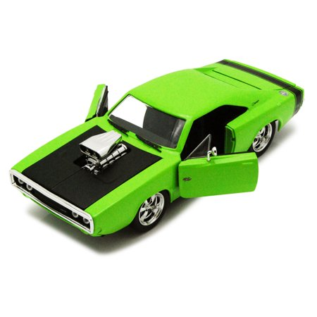 1970 dodge charger r t w engine blower green jada toys bigtime muscle 96953 1 24 scale. Black Bedroom Furniture Sets. Home Design Ideas