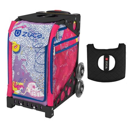 Zuca Sport Bag - Best Friends with Gift Black/Pink Seat Cover (Black Non-Flashing Wheels