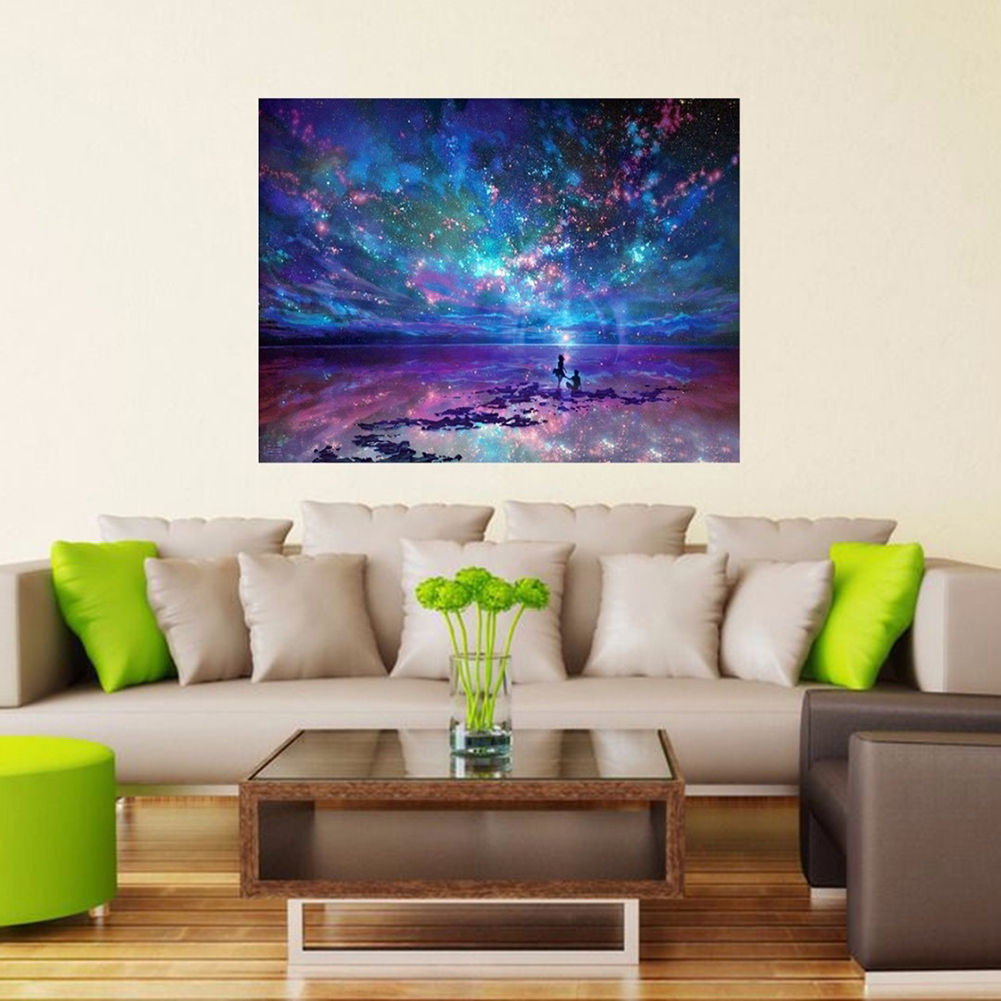 Girl12Queen Night Stars DIY 5D Diamond Painting Cross Stitch Embroidery Kit Home Decoration