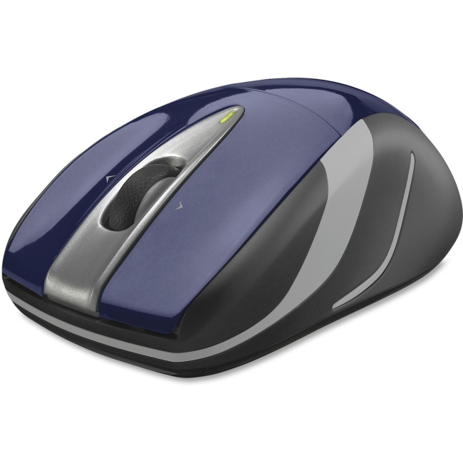 Logitech Wireless Laser Mouse - Optical - Wireless - Radio Frequency - Blue, Black - USB - 1000 dpi - Computer - Scroll Wheel - 3 Button(s) - Symmetrical
