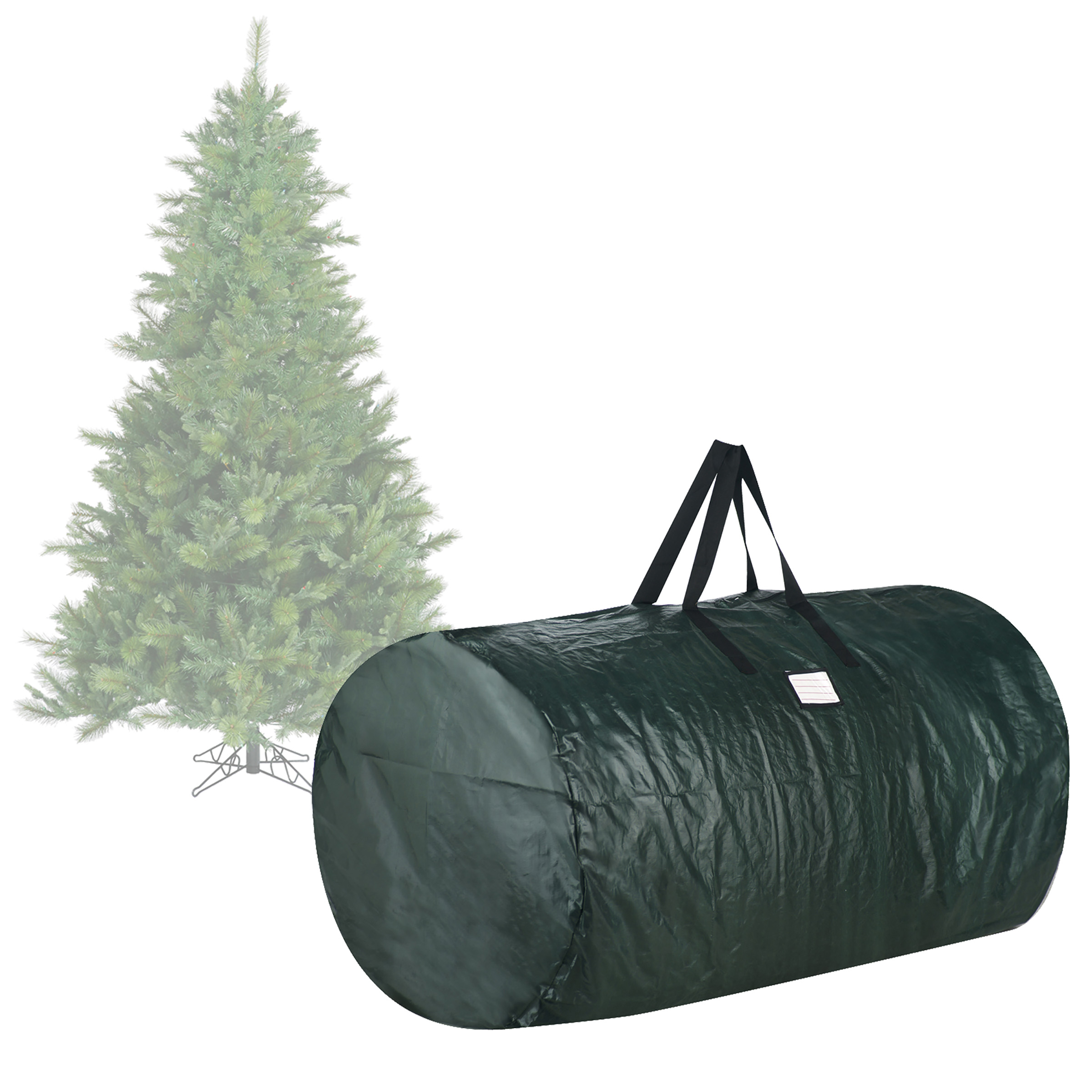 Elf Stor Premium Christmas Tree Bag Holiday Green Large For 7.5 Ft Tree