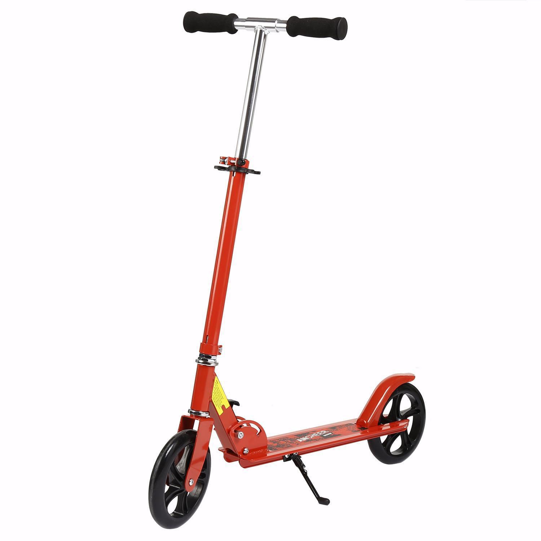 BETT Foldable 2-Wheel Kick Scooter Aluminium Alloy, 3 Levels Adjustable Height by