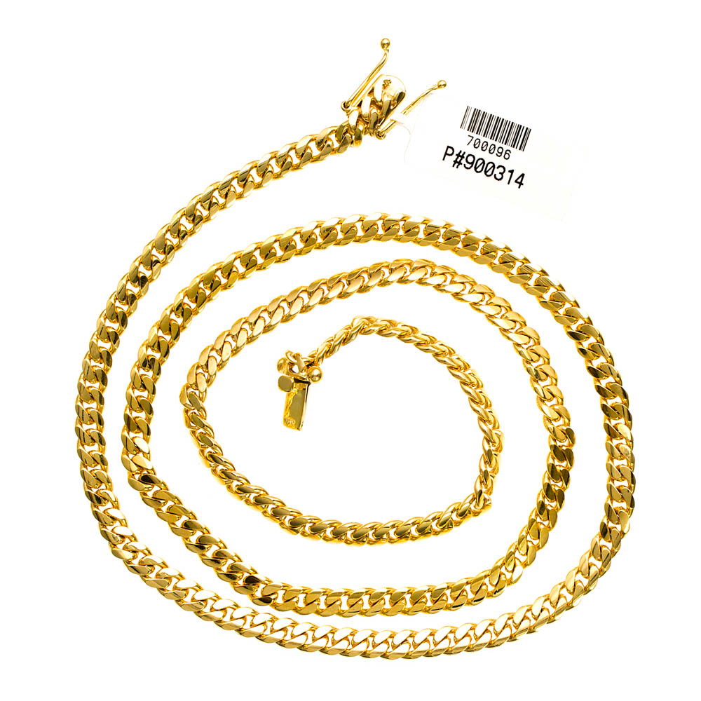 Mens Miami Cuban Link Chain 50 gram Solid 14K Yellow Gold 8.5 mm Necklace 30 inches by J&H Jewelers