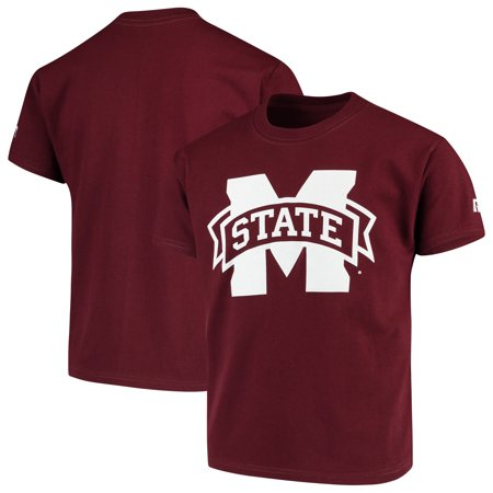 Mississippi State Bulldogs Russell Youth Oversized Graphic Crew Neck T-Shirt - Maroon