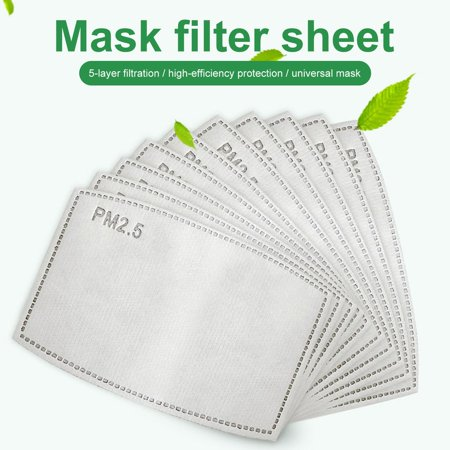 Activated Carbon Filter Refill Replacement - 5 Layers Insert Protective Parts for Air Filtration (10 Pack) - image 1 of 10