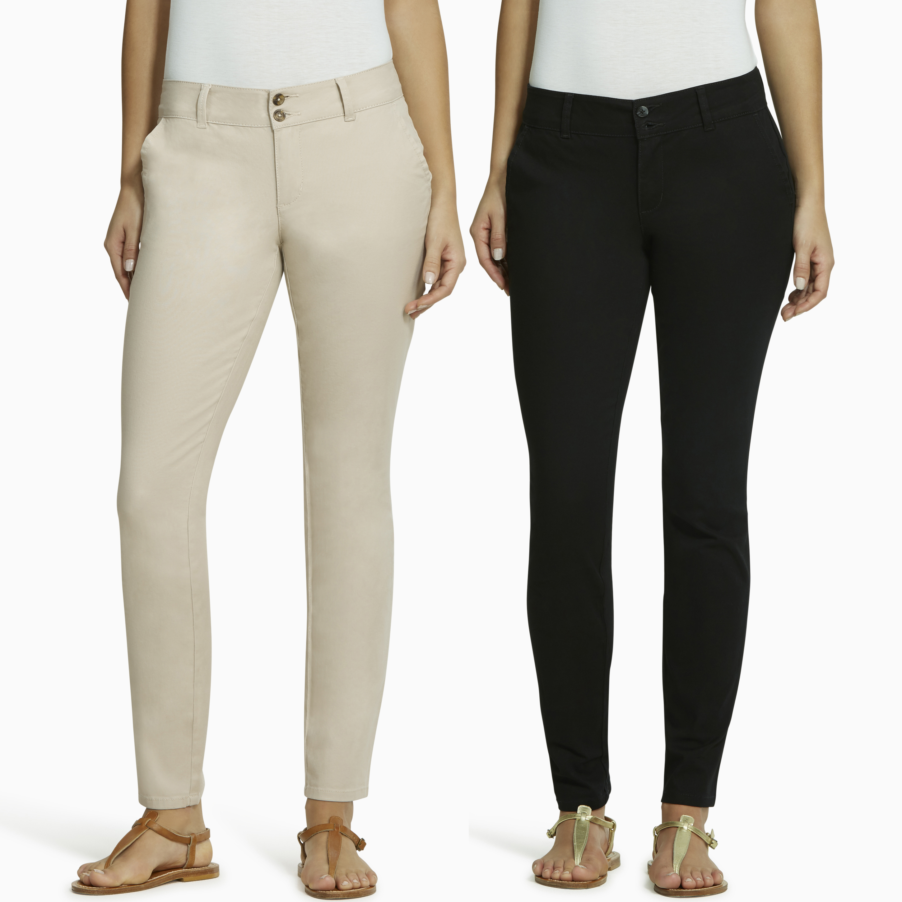 L.E.I. Juniors' Taylor Skinny Uniform Pant 2pk Value Bundle
