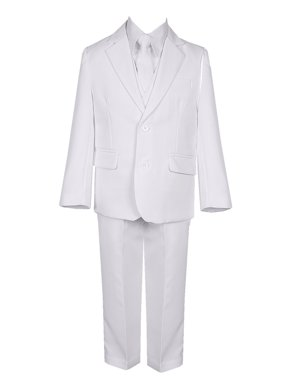 Rain Kids Boys White Straight Jacket 5 pc Special Occasion Suit