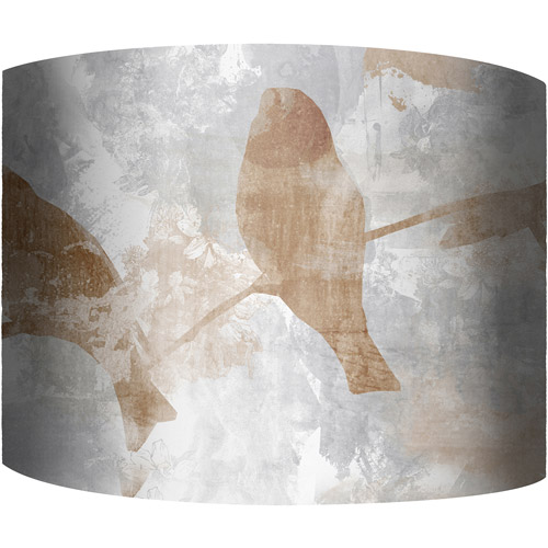 "12"" Drum Lampshade, Birds on a Branch by"