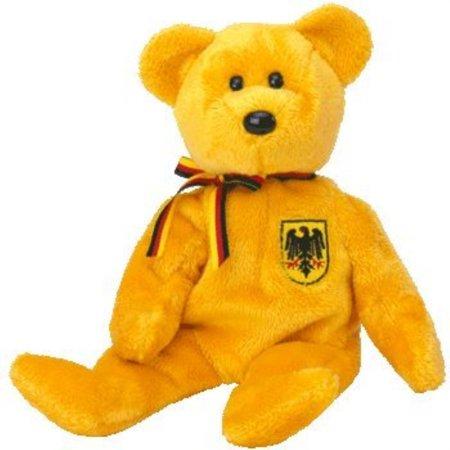 Germany Mohair Bear (TY Beanie Baby - PRINZ VON GOLD the Bear (Germany)