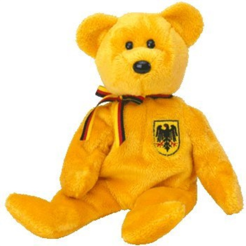 TY Beanie Baby - PRINZ VON GOLD the Bear (Germany Exclusive)