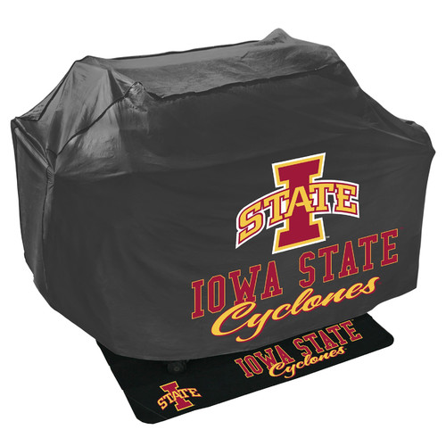 Mr. Bar-B-Q NCAA Grill Cover and Grill Mat Set, Iowa State Cyclones