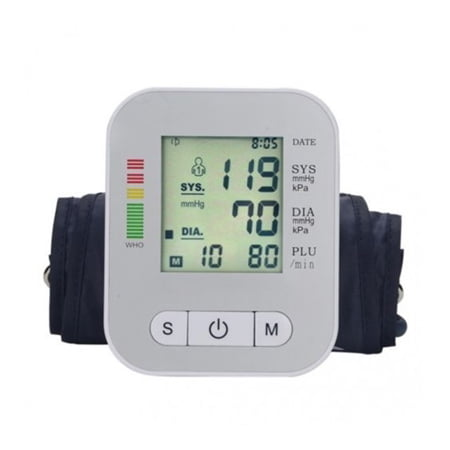 EHM Full Automatic LCD Digital Upper Arm Blood Pressure Monitor with Arm Cuff