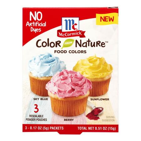 McCormick Color Nature Food Colors - 3 CT - Walmart.com