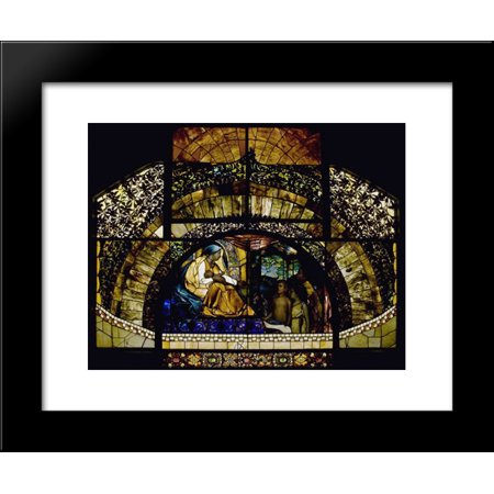 Adoration window 20x24 Framed Art Print by Louis Comfort - Louis Comfort Tiffany Windows