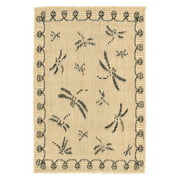 Liora Manne Terrace 1791/67 Dragonfly Neutral Area Rug 39 Inches X 59 Inches