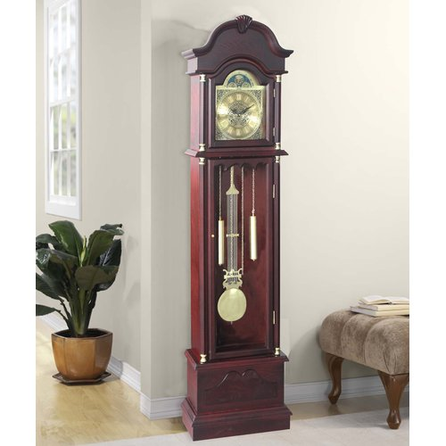 Astoria Grand Traditional 72'' Wood Floor Standing Grandfather Clock by