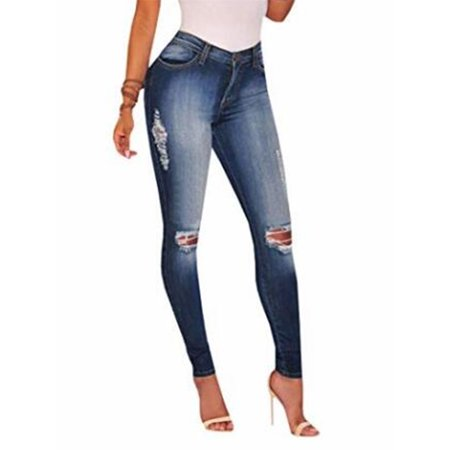 Womens Light Blue Jeans - Light Blue Washed Denim Pants Women Skinny Jeans