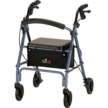 Nova Medical Product Vibe 6 Rolling Walker  Blue